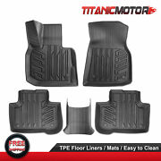 Front And Rear Tpe Rubber Floor Mats Liners For 18-21 Bmw X3 19-21 X4 Waterproof