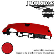 Red Italian Leather Top Dashboard Cover For Jaguar Xf X250 Mk1 08-11