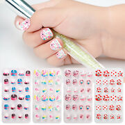 Artificial Full Cover Child Oval False Nails Wearable Kids Fake Nails Nail Tips