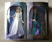 """Frozen 2 Snow Queen Elsa And Queen Anna Limited Edition 17"""" 2 Doll Set"""