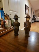 Cast Iron Dough Boys Or Cub Scouts Early 1900