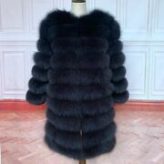 Real Fox Fur Coat Women Natural Real Fur Jackets Vest Winter Outerwear Clothes
