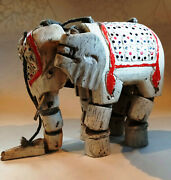 Vintage Marionette Puppet On A String Elephant, India 1930s