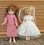 Vintage 1950and039s Baby Boomer Uneeda Dolls 1 Blond And 1 Redhead W/lots Of Clothes