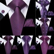 Novelty Style Design Ties And Hanky With Cufflink Set For Men's Suit Accessories