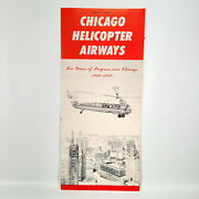1959 Chicago Helicopter Airways Travel Brochure Financial Report + Sikorsky S-61