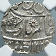 1749 Fe 1229 India British Bombay Presidency Old Silver Rupee Coin Ngc I88863