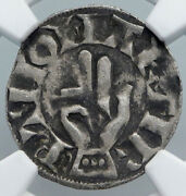 1200ad France Archbishopric Besancon Old Silver Denier Medieval Ngc Coin I88922