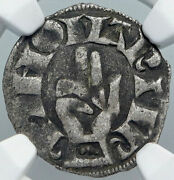 1200ad France Archbishopric Besancon Old Silver Denier Medieval Ngc Coin I88924