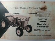 Jacobsen Chief 8 Hp 53028 Lawn Garden Tractor Owners Manual