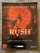 Rush 18x24 2012-2013 Tour Poster Signed Autographed Beckett Certified