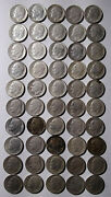 Lot Of 50 Roosevelt Dimes Mixed 1946 To 1961 Silver Ten Cent Coins Mg