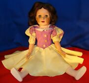Snow White Doll 21andrdquo Deluxe Toy Creations N.y. - Made Of Miracle Vinyl - 1950andrsquos