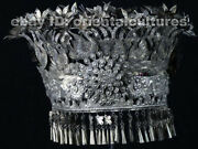 Vintage Tribal Exotic Chinese Handmade Miao Silver Headgear Hat