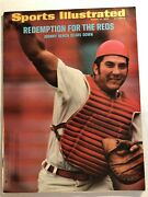 1972 Sports Illustrated Cincinnati Reds Johnny Bench No Label Look At Huge Arm