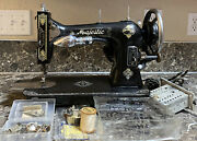 Majestic Branded White Family Rotary Style Sewing Machine W/ Accessories Used