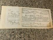 1877 Boston Red Caps Baseball Stock Certificate - National League Champions Year