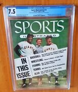 Sports Illustrated 1955 Mays Fc Newsstand Cgc 7.5 Highest Grade With Banner