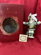 Nibnew Flawless Stunning Waterford 2004 Holiday Welcome Santa Christmas Ornament