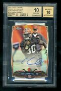 Pop 1 2014 Topps Chrome Bllack /25 Refractor Isaiah Crowell Bgs 10 Auto Pristine
