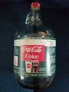 Coca-cola One Gallon Syrup Bottle W/label Attached