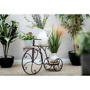 Antique Bronze Bicycle Plant Stand