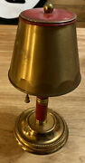 Vintage Ashtray Hideaway Lamp Shade 8andrdquo Brass Painted Spring Loaded