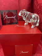 Nib Flawless Stunning Baccarat France Glass Zodiac Crystal Ram Sheep Figurine