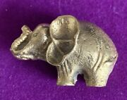 Vintage Small Brass Elephant Figurine Ornament Statue Indian Gift