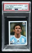 2010 Panini Fifa World Cup South Africa Album Stickers Lionel Messi 122 Psa 9