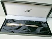 Vintage Mont Blanc Meister Stuck Sterling And 18k Gold Nib Fountain Pen With Box