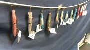 Lot Of 13 Antique Lures Wooden And Plastic Larger Probably Salt Water..