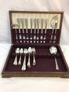 Wm Rogers Sectional Is Flatware Collection With Tarnish Box Wood Case Serves 8