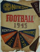 Scrap Book 1945 And 1946 Football W/ College Mini-pennants And Ticket Stubs