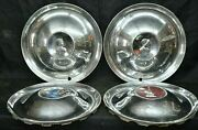1951 1952 Desoto Firedome Deluxe Hubcaps Wheel Covers Set Of 4 Oem Conquistador