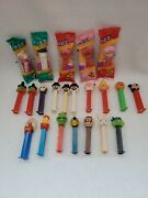 Vintage Lot Of 22 Pez Dispensers Variety 5 New 17 Used Taz Mickey Turtle Holiday