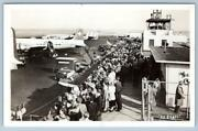 1950's Rppc Airplanes At New York City International Airport Real Photo Postcard