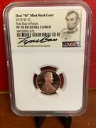 2019-w Lincoln Cent Pf70rd Ultra Cameo Signed Lydall Bass Pop 122 Fdoi