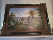 Early 20th C. Landscape Painting Oil On Canvas Unsigned