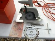 Rare Vintage Black And Decker Circular Saw Complete W/ Case Tools Fence 7 1/4