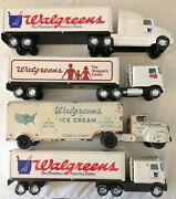 Lot Of 4 Walgreens Semi Trucks Marx And Nylint Used Condition