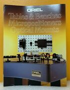 Oriel 1986 Vol. I Tables And Benches Micropositioners Optical Mounts Catalog.