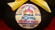 Disneyland's 30th Anniversary Birthday Party July 17, 1985 Mickey Mouse Ears Hat