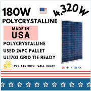 180w 24pc Pallet - Evergreen Solar Ul Listed Solar American Made Panels Used