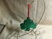 Waterford Crystal Green Shamrock Ornament Second