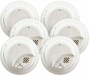 First Alert Brk9120b Hardwired Smoke Detector With Battery Backup 6-pack