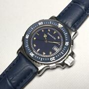 Diver Model Rare Navy Dial And Genuine Leather Belt Unisex