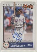 2020 Topps Brooklyn Collection /75 Darryl Strawberry Bka-dst Auto