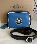 Coach 1941 Dylan Space Blue Leather Camera Bag 11399