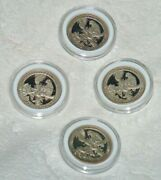 Lot Of Four 2012 Atb Proof Parks Quarters El Yunque National Forest Low Mintage